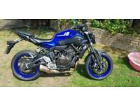 2017 Yamaha MT07 for Repair.