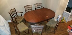 Antique dining table + chairs from 1950s