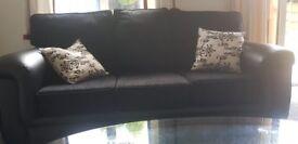 Stunning part leather sofas