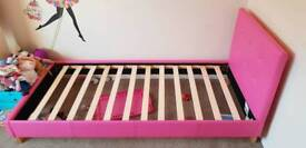 Pink bed frame - like new