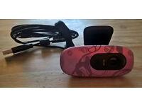 * A floral pink HD 720p USB Logitech webcam & extras! *