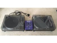 x2 Gemini XL-400 II Belt Drive DJ turntables decks & Numark DM905 Blue Dog 2 mixer