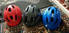 Joblot of cycling helmets ... aduits and kids for sale