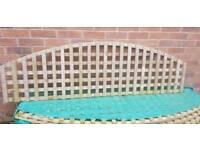 Garden trellis fence 6ft arch