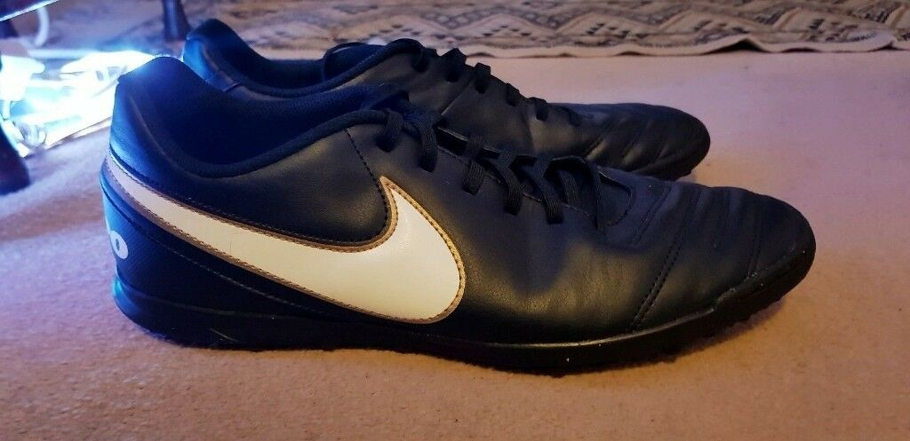 Nike Tiempo Rio III Astro Turf Football Trainers UK 11 (Black Gold)  2dadb2d8be034