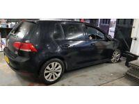 VW GOLF MK7 2013 CAT D COMESTIC DAMAGE - BARGAIN FOR QUICK SALE - LOW MILEAGE