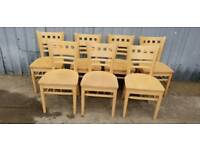 Set of 7 Solid Wood Chairs