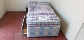 Single divan bed with Mattress (delivered free)