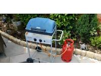 Barbeque Grill And Gas Tank