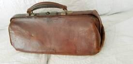 Vintage leather doctors bag.