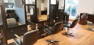 huge hair salon closing down sale everything must go / barber chairs / shampoo units / reception desk / washer dryer
