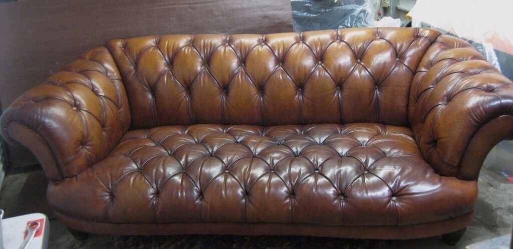 Tetrad Oskar Large / Grand Chesterfield Leather Sofa
