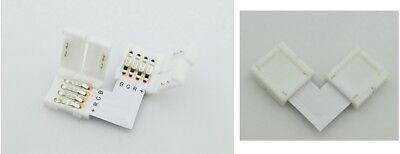 2X Conector Tira LED RGB + Unión A L Fusión Cable Bobina...