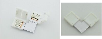 2 Conector Tira LED RGB + Unión A L Fusión Cable Bobina...