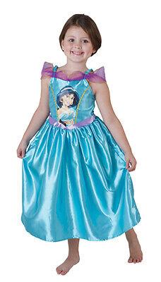 Jasmine Aladdin Big Print Classic Prinzessin Kleid Kinder - Jasmine Kleid Kostüme
