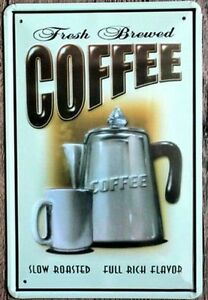 8 x 12 inch - Retro Diner Inspired- Coffee Tin Wall Sign Sarnia Sarnia Area image 1