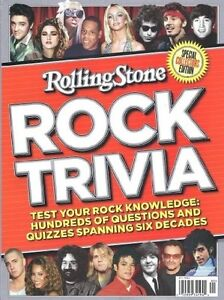 Rolling Stone ROCK TRIVIA collectors edition BRAND NEW book