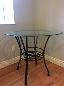 Table - glass and wrought iron