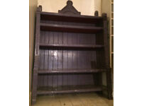 Painted oak vintage bookshelf