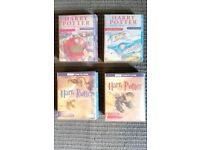 Harry potter 4 full sets audio cassettes - 4 full audio stories.