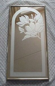 C1970s Stamford Art Etched Glass Mirror Mint