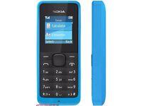 Nokia 105 blue (Unlocked) Mobile Phone
