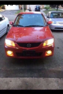 2002 Mazda protege5 red colour as is