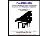 Piano lessons. First 2 free. £20 per lesson thereafter