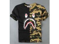 Men's T shirt bape Shark