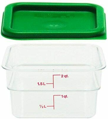 Cambro Polycarbonate Square Food Storage Containers 1 2 Quart With Lid