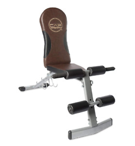 CAP Barbell Flat/Incline/Decline Bench, Brown
