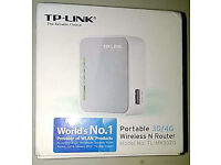 TP-Link Portable 3G/4G Wireless N Router (TL-MR3020) + Compass 885 3G USB Modem