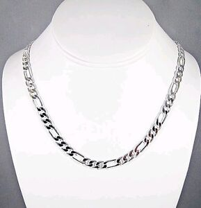 Fashion NEW Solid Silver 4MM WIDE Mens Chain Necklace Good gift 20inch N925