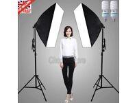 1350W Photography Photo Studio SoftBox Lighting Video Soft Box Light Stand Kit
