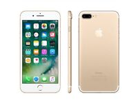 I PHONE 7 PLUS 32GB FACTOR UNLOCKED (GOLD)P.X WITH I PHONE 6