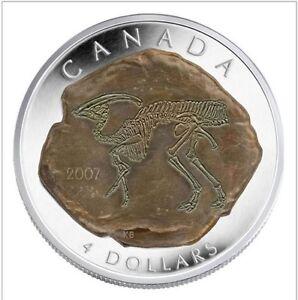 Monnaie Canada 2007 4 dollars MRC Argent/Silver Parasaurolophus