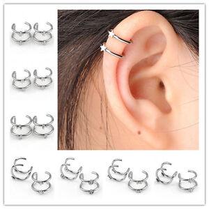 -ear-stud-earrings-cuff-  Ear Cartilage Stud Earrings