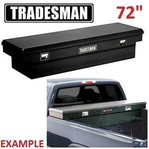 "NEW* TRADESMAN TRUCK TOOL BOX 72"" CROSS BED - BLACK TRUCKS CARGO BOXES BED ACCESSORIES TRUCKBOXES CARGOBOX 108160155"