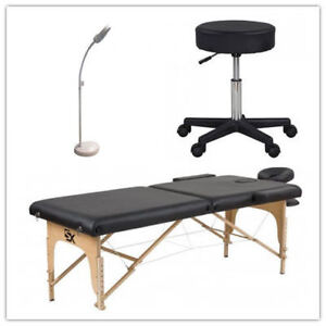 TrioCombo $200 :Table à Massage + LED Magnifying Lamp+ Chaise ro