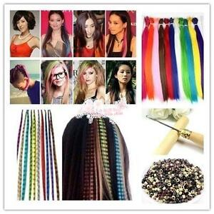Feather hair extensions ebay feather hair extensions kit pmusecretfo Images