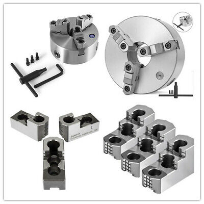3 Jaw K11-160400 Lathe Chuck Hard Jaw Self Centering Reversible Hardened Steel