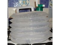 Collapsible water container concertina style 15L