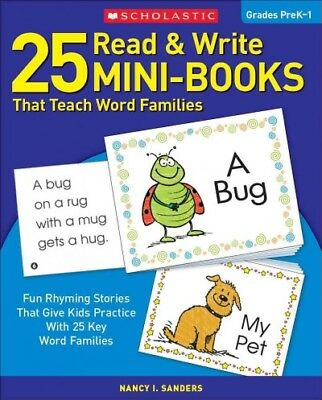 Write Mini (25 Read and Write Mini-Books That Teach Word Families, Paperback by Sanders,)