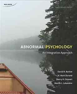 Abnormal Psychology 4Th Canadian Edition psy240