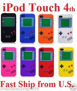 NEW-Nintendo-Game-Boy-Silicone-Soft-case-cover-Skin-for-iPod-Touch-4-4th-9-Color