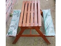 Bench with waterproof padded seating