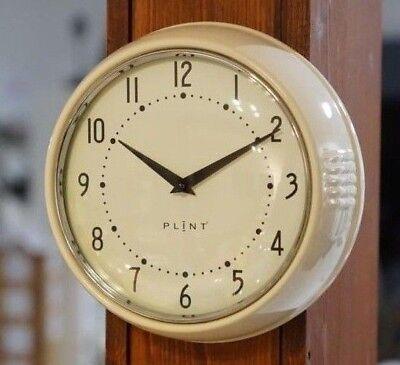 Wanduhr Küchenuhr Retro Design Vintage Metall Küche Quarzuhr Uhr creme