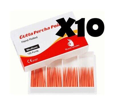 10 Dental Box X Gutta Percha Master Xf