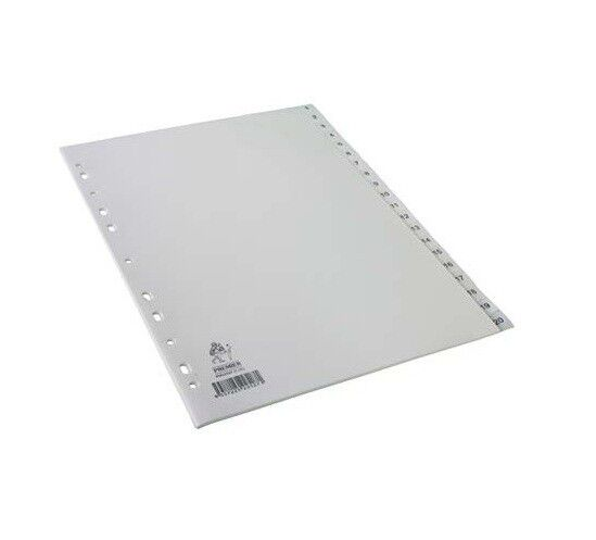 A4 WHITE PLASTIC NUMBERED 1-20 INDEX TAB DIVIDERS NP