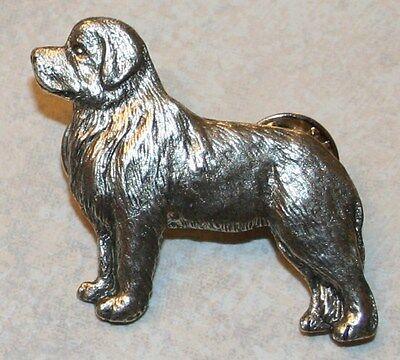Newfoundland Dog Fine PEWTER PIN Jewelry Art USA Made